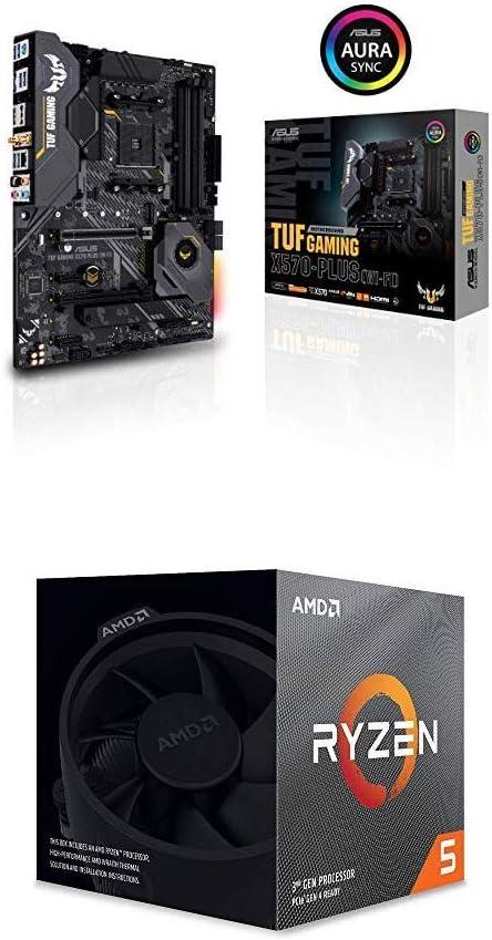 ASUS AM4 TUF Gaming X570-Plus (Wi-Fi) ATX Motherboard and AMD Ryzen 5 3600X 6-Core, 12-Thread