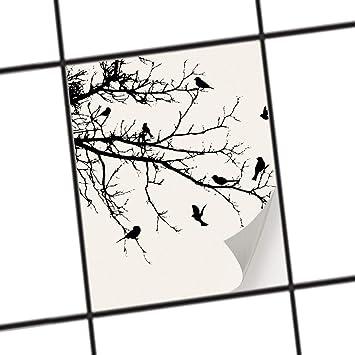 Creatisto Fliesen Aufkleber | Deko Dekorsticker Badfliesen Küchen Folie  Wanddeko | 15x20 Cm