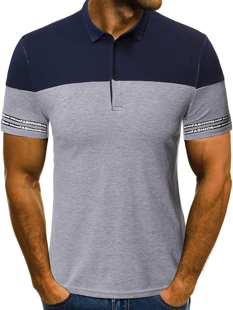 riou Camisetas de Manga Cortas para Hombre Verano Casual con Cuello Redondo Originales Estampada Camisa Slim Fit Moda Blusa Suave básica Camiseta M-XXL: Amazon.es: Ropa y accesorios