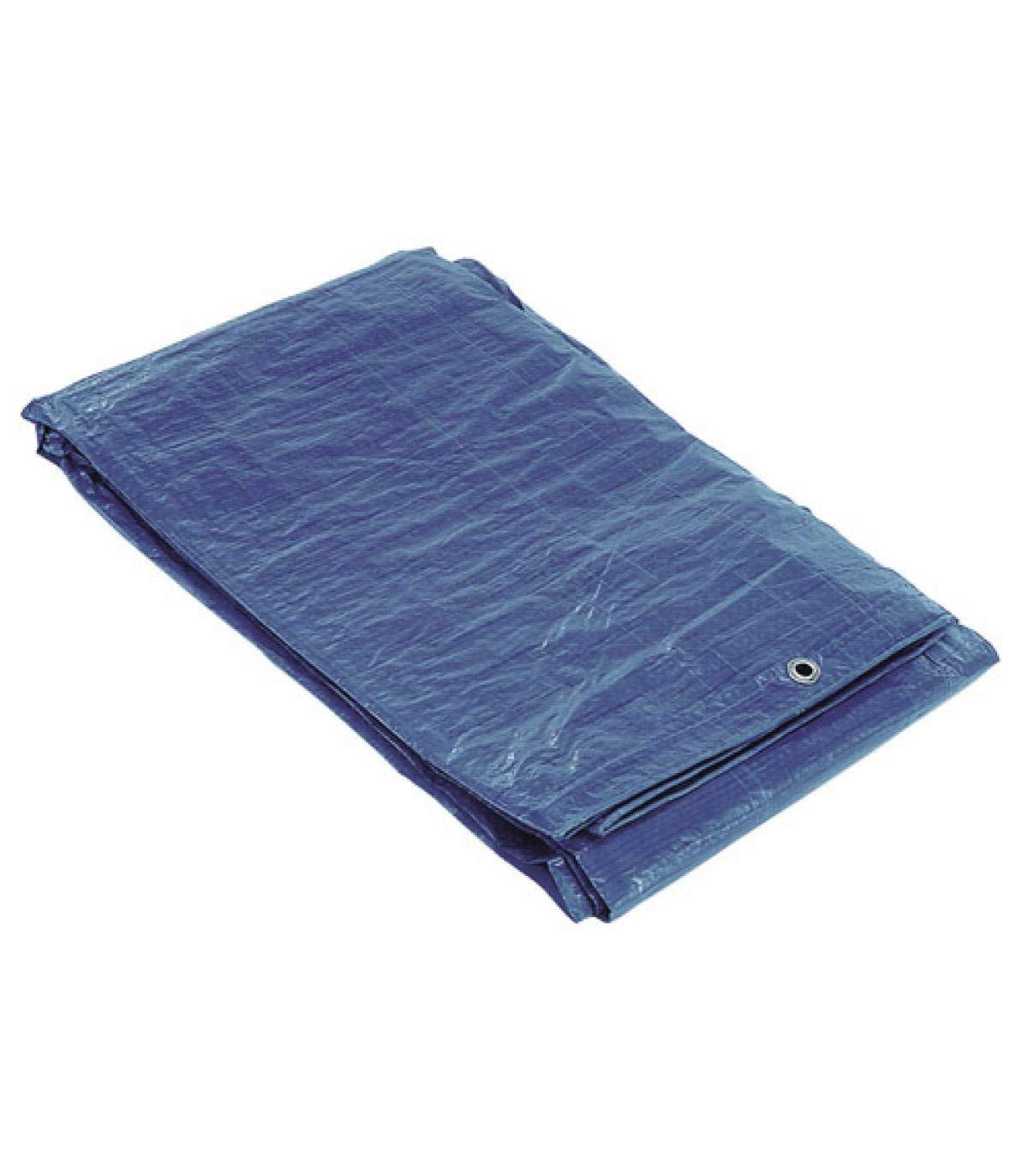 SATURNIA 15070010 Lona Impermeable Azul Con Ojetes Met/álicos 4 x 6 Metros Aproximadamente