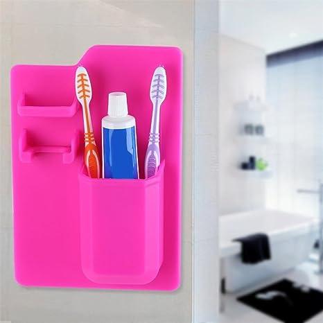 Sujing - Organizador para cepillos de dientes, organizador de baño, almacenamiento, ahorro de