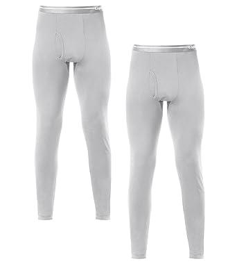 LAPASA Lot de 2 Pantalons Thermiques Homme Doublure Laine Polaire - Bas  Caleçons Longs sous- 1f9be9fe399