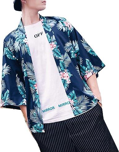 Camisa de Gasa de Manga Larga de Estilo Hawaiano, Estilo Playa, para Hombres: Amazon.es: Ropa y accesorios