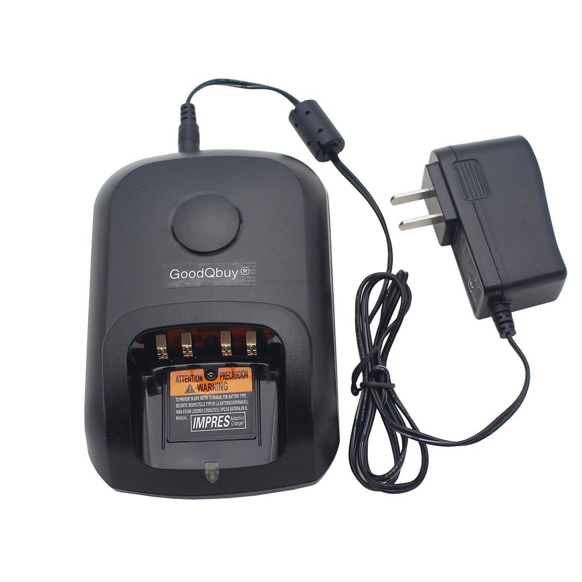 GoodQbuy Battery Charging Dock Desktop Charger For Motorola Radios XPR-6300 XPR-6550 XiR P-8200 DP-3600 XPR6580 XPR6380 XPR6500