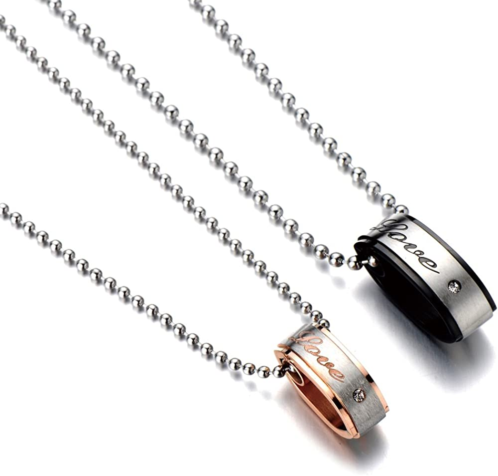 Aeici Sterling Silver Necklaces Oval Link Chain Gothic Necklaces