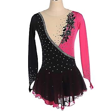 Kmgjc vestido de rendimiento para patinaje artístico, para niñas ...