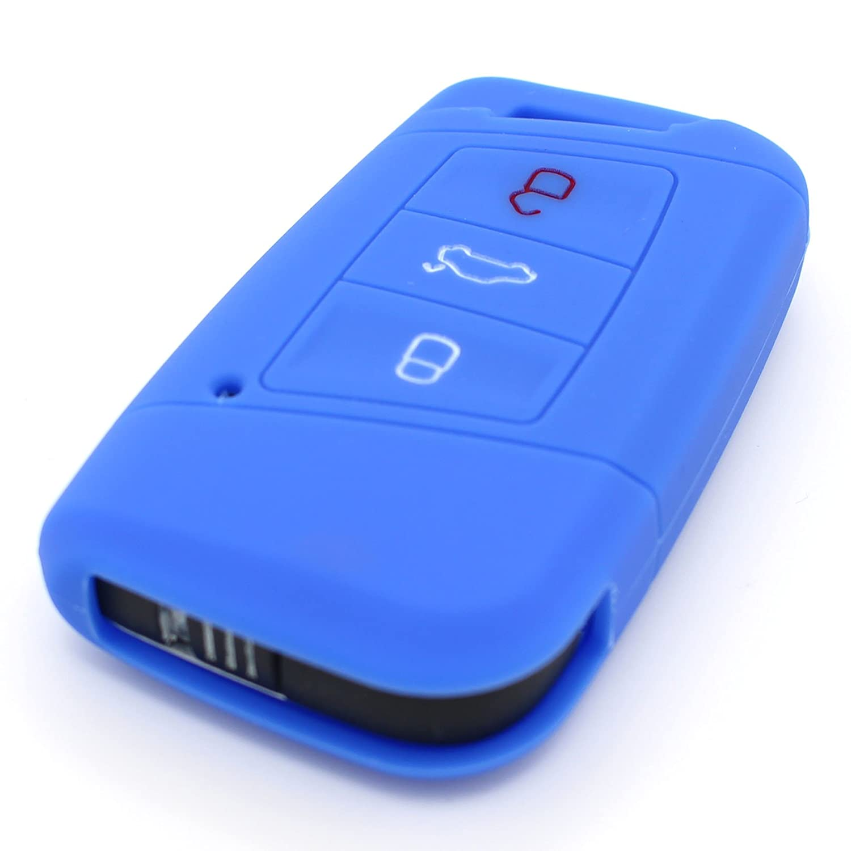 Finest-Folia Coque en silicone VD pour cl/é de voiture /à 3/boutons Noir