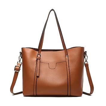 Handtaschen Damen Umhängetasche Schulter Tasche Groß PU