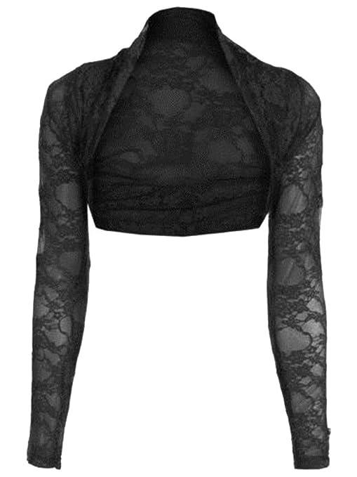44 opinioni per Janisramone maglia manica lunga pizzo scrollata di spalle bolero cardigan