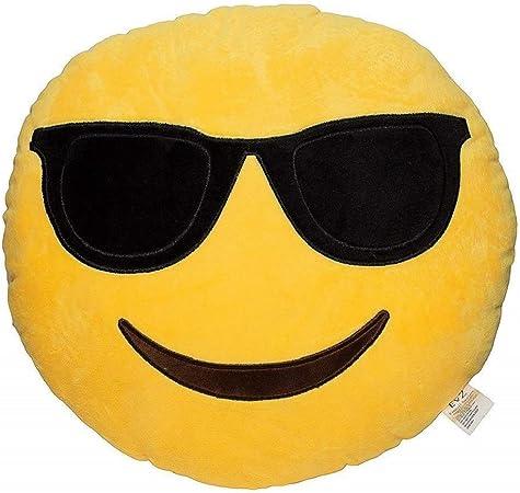 Emoji Cuscini.Kaymayn Smiley Emoji Cuscino Rotondo 32 Cm Emoticon Carino