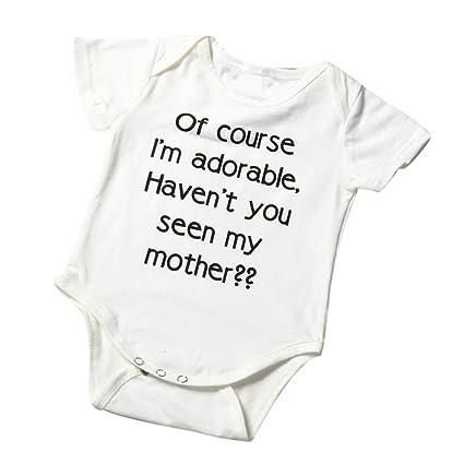 feiXIANG Bebé recién Nacido Medias Mujer niña de Manga Corta Camisa del Mono del bebé Muchacha
