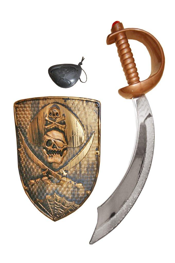 Z3 Puñal. Espada. Espada de pirata. Zable de pirata. Zables. Escudo. Parche de ojo. Artículo. Fiestas. Carnaval.