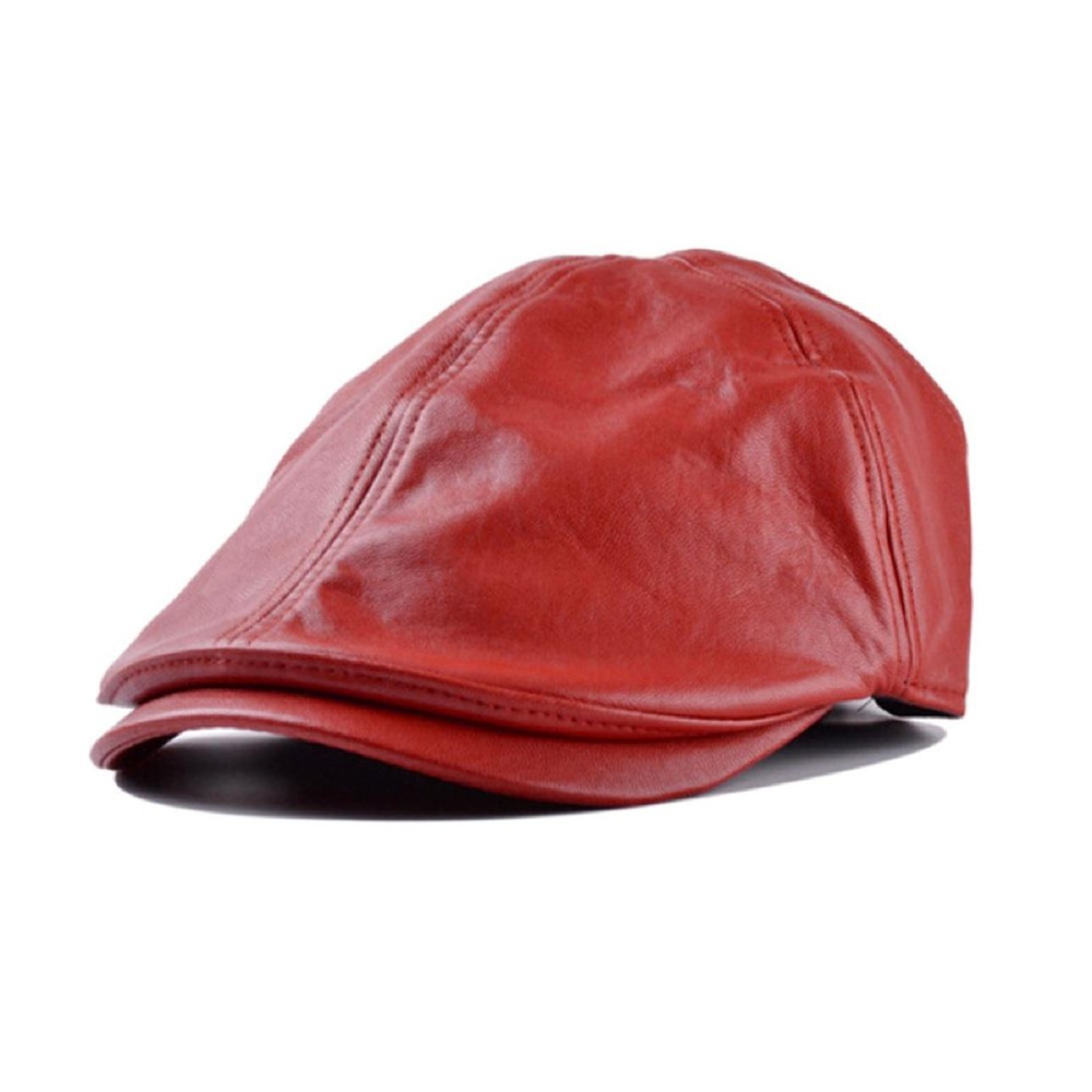 TONSEE Mens Women Vintage Leather Beret Cap Peaked Hat Newsboy Hat TONSEE_A2619