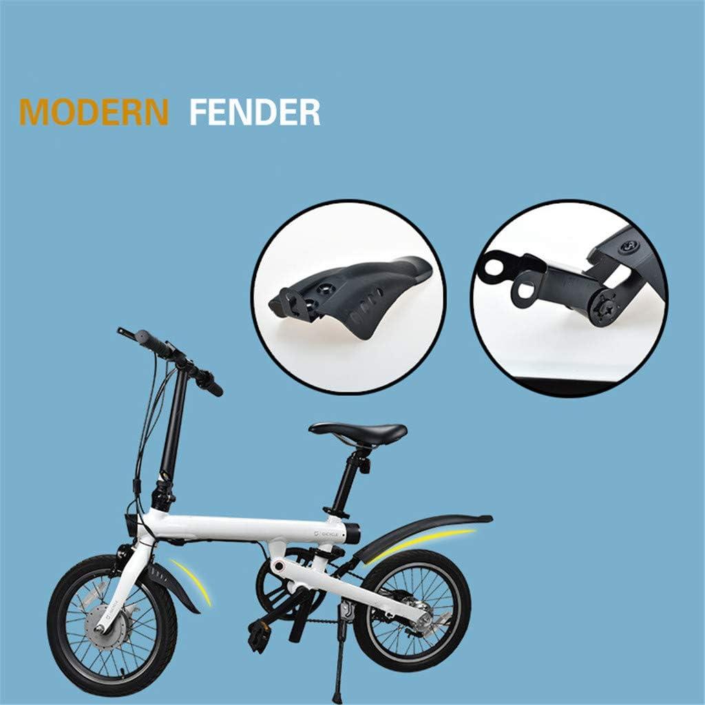 SMILEQ Accesorios de Bicicleta Delantero Trasero Guardabarros Repisa Soporte de trípode para Xiaomi Mijia Qicycle EF1 (Negra): Amazon.es: Deportes y aire libre
