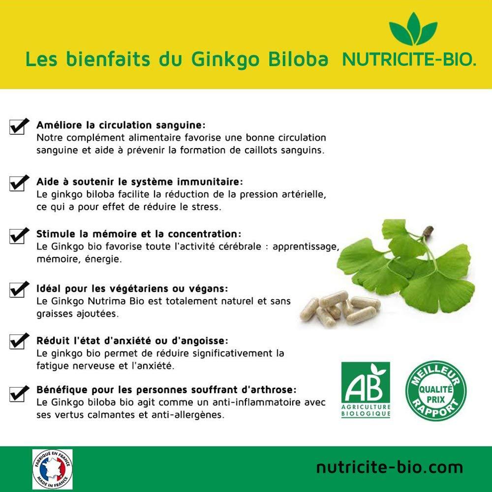 Le Ginkgo Biloba BIO vasodilatateur et fluidifiant sanguin