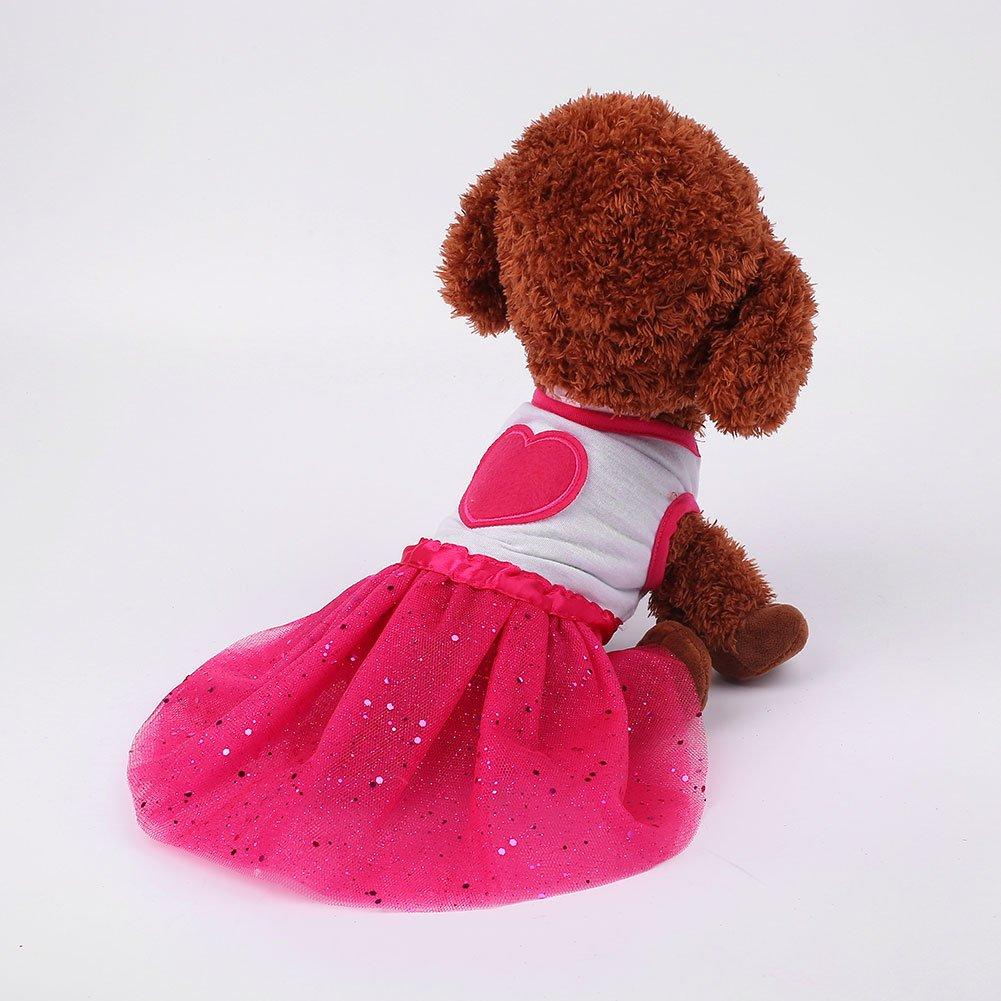 bb9354ceb JWBOSS Moda del Perro casero Tutu del Partido Ropa Vestido de la ...