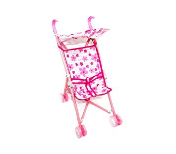 Amazon.es: 981012 Carrito de paseo para muñecas CIGIOKI con capota para el sol - Flores: Juguetes y juegos