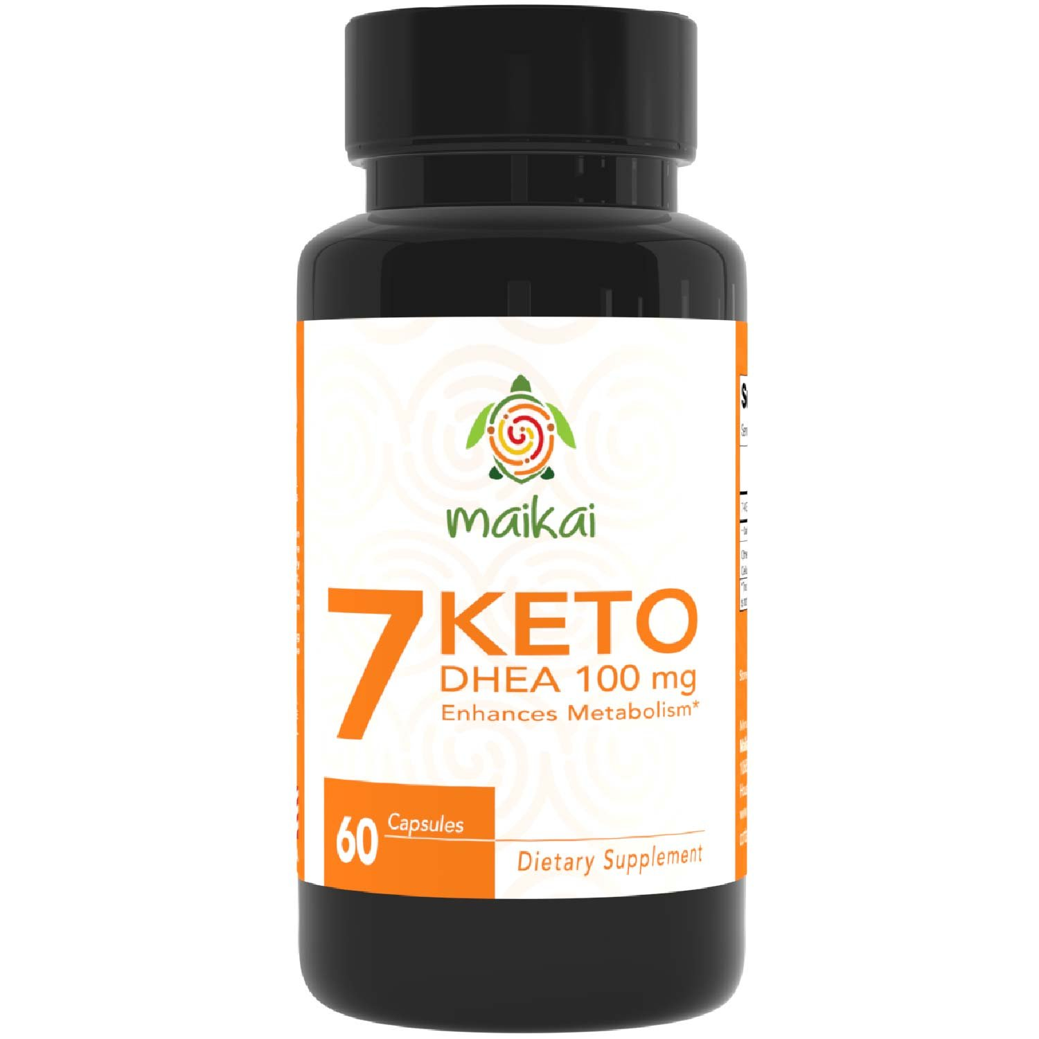 7 Keto DHEA 100mg Burn Pills - Weight Loss Supplements to Burn Fat Fast - Enhances Metabolism and Promotes Weight Loss - Ketosis Supplement for Women and Men (60) by Maikai