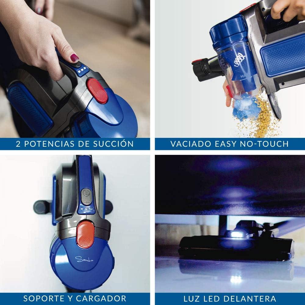 SAMBA 9282 aspirador sin cable, 150 W, Plástico, Azul: Amazon.es: Hogar