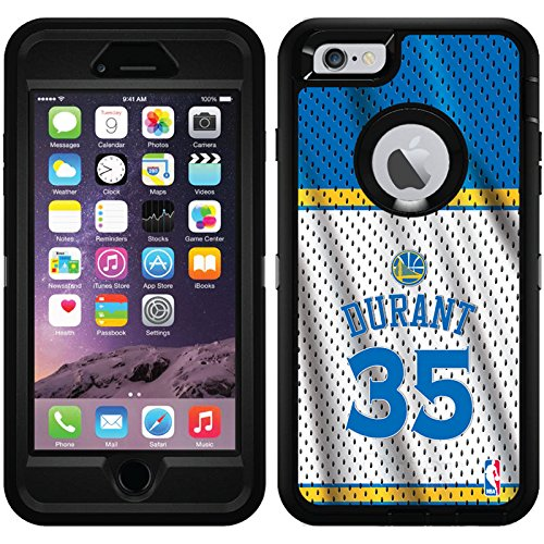 Kevin Durant - Home Jersey Back design on Black OtterBox Defender Series Case for iPhone 6 Plus and iPhone 6s Plus 6830 Series