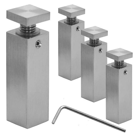 1.8cm x 1.8cm x 3cm Distanziatore distanziale Muro Spacer acciaio inox fissaggio montaggio per vetro acrilico /Ø1,8cm indoor outdoor quadrato modello:4St/ück