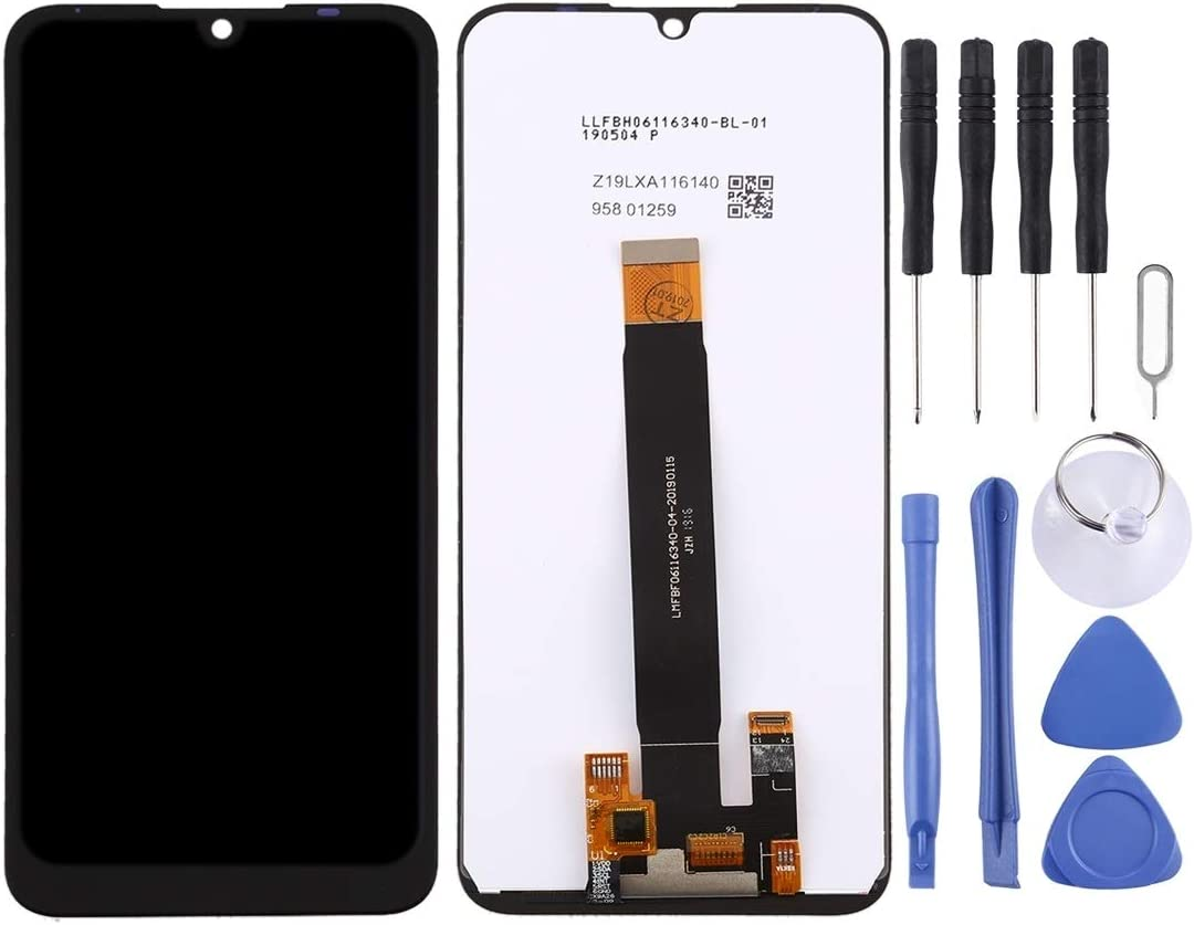 LCD Screen Mobile Phone and Digitizer Full Assembly for BQ BQ-6040L Magic Black Color : Black
