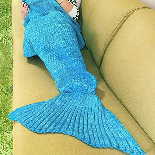 NOPTEG Mermaid Tail Blanket Thick Warm and Soft Handcrafted