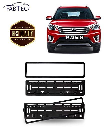 Fabtec Car Number Plate Frame For Hyundai Creta Number Plate (Set Of ...