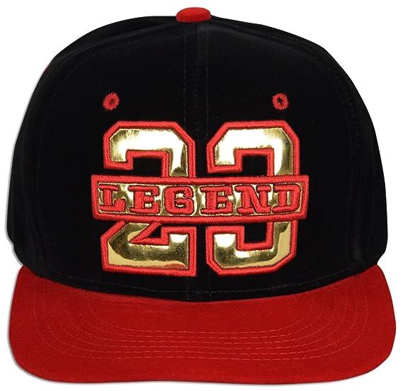 fbf0b833410 JLGUSA Velvet 23 Legend Adjustable Strap-Back Two Tone Baseball Cap Hat ( Black