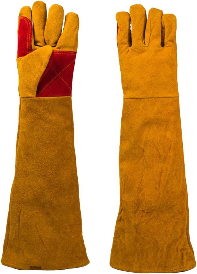JHKJ-Gloves Guantes De Cuero Guantes De Soldadura para Mascotas: Resistentes Al Calor/Al Fuego, Ideales para La Jardinería/Soldadura.