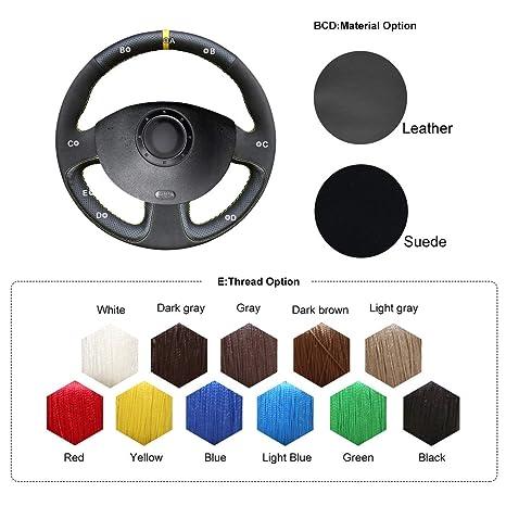 Amazon.com: OUYUE - Funda para volante de ante negro ...