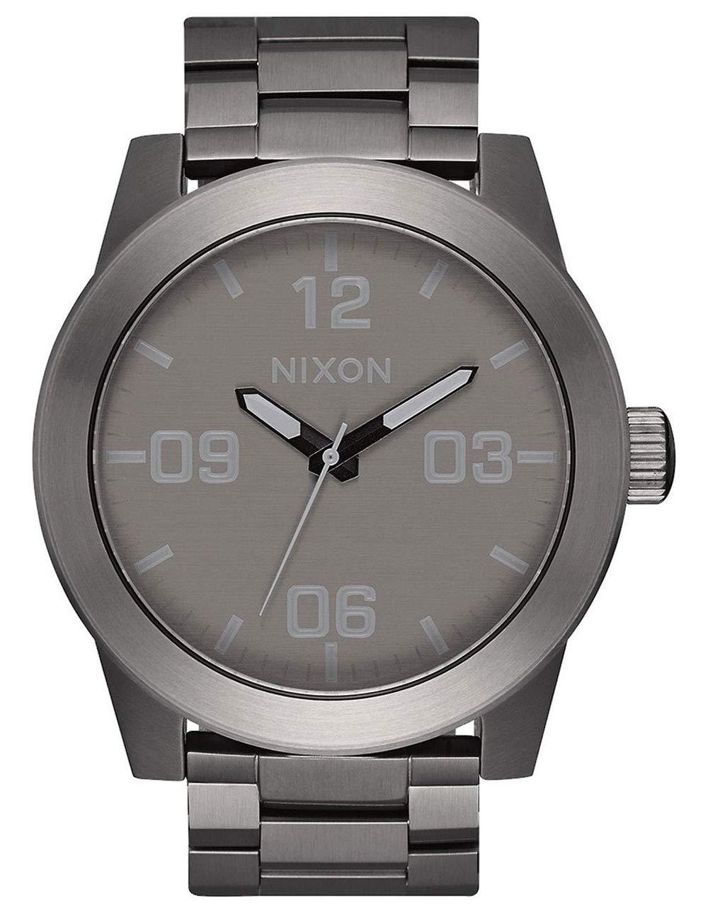 Nixon Men's 'Corporal SS' Quartz Stainless Steel Casual Watch, Gunmetal Gray (Model: A3462090)