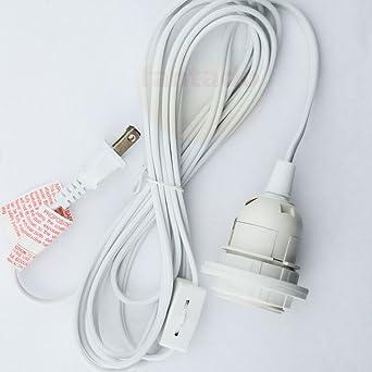 Nice Fantado Single Socket White Pendant Light Lamp Cord For Lanterns, 11 FT, UL  Listed