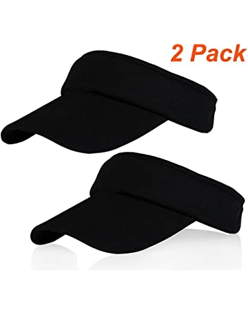 da39df13 Multiple Colors Sun Visors for Women and Girls, Long Brim Thicker Sweatband  Adjustable Hat for