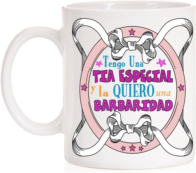 MardeTé Taza Tengo un tía Especial y la Quiero una barbaridad. Taza Regalo para titas Familia.
