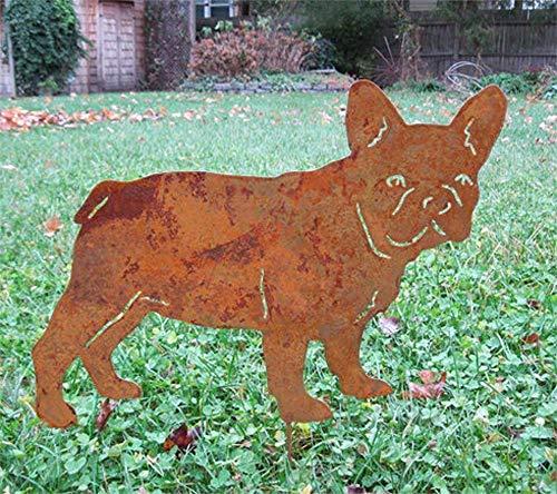 - French Bulldog Garden Stake or Wall Hanging, Dog Memorial, Garden Art
