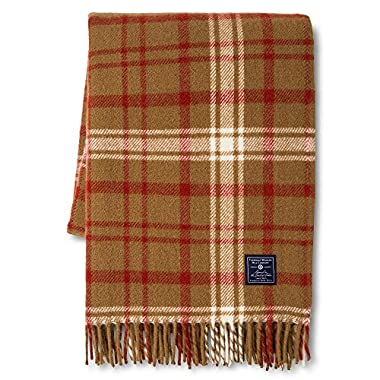 Faribault for Target Plaid Wool Throw - Chestnut