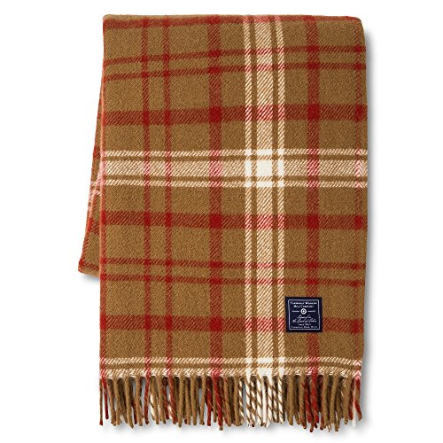 - Faribault Woolen Mill Company Plaid Wool Throw - Chestnut