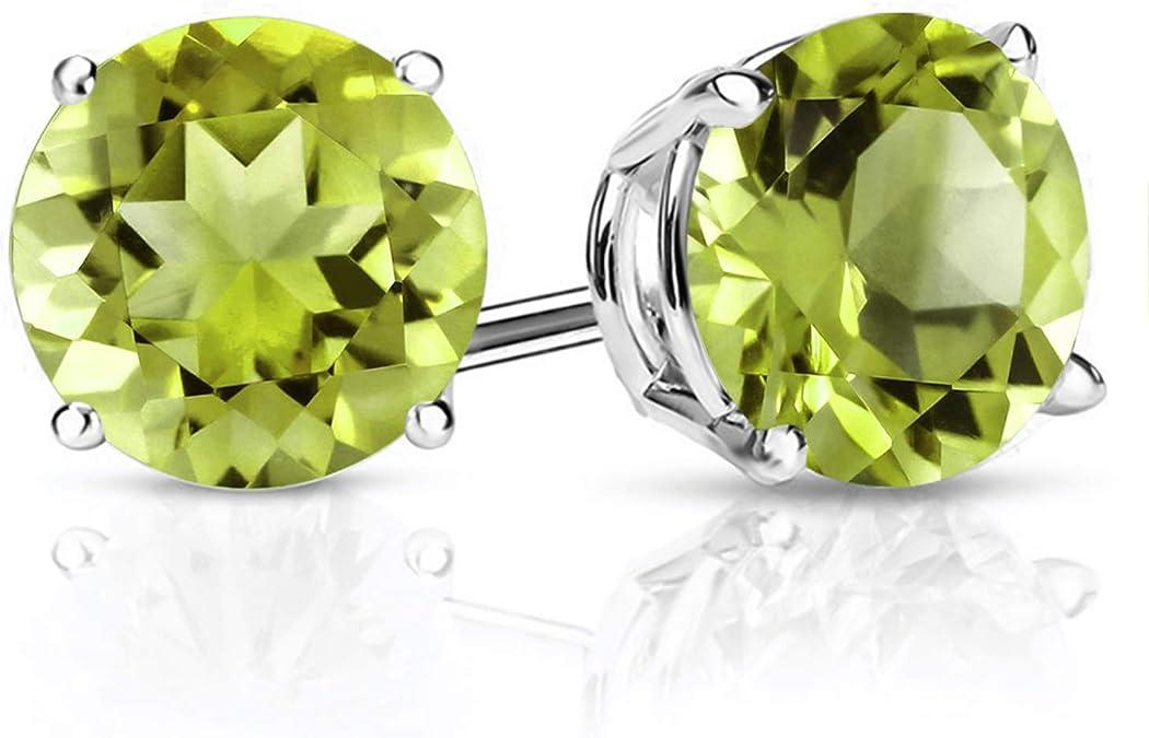 ICYROSE 925 Sterling Silver Snake w//Peridot Crystal Stud Earrings 22277