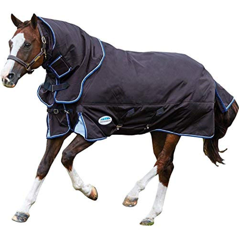 Weatherbeeta Comfitec Medium Ultra Cozi Detach-a-neck Turnout Blanket (6 ft 3) (Charcoal/Blue/White)