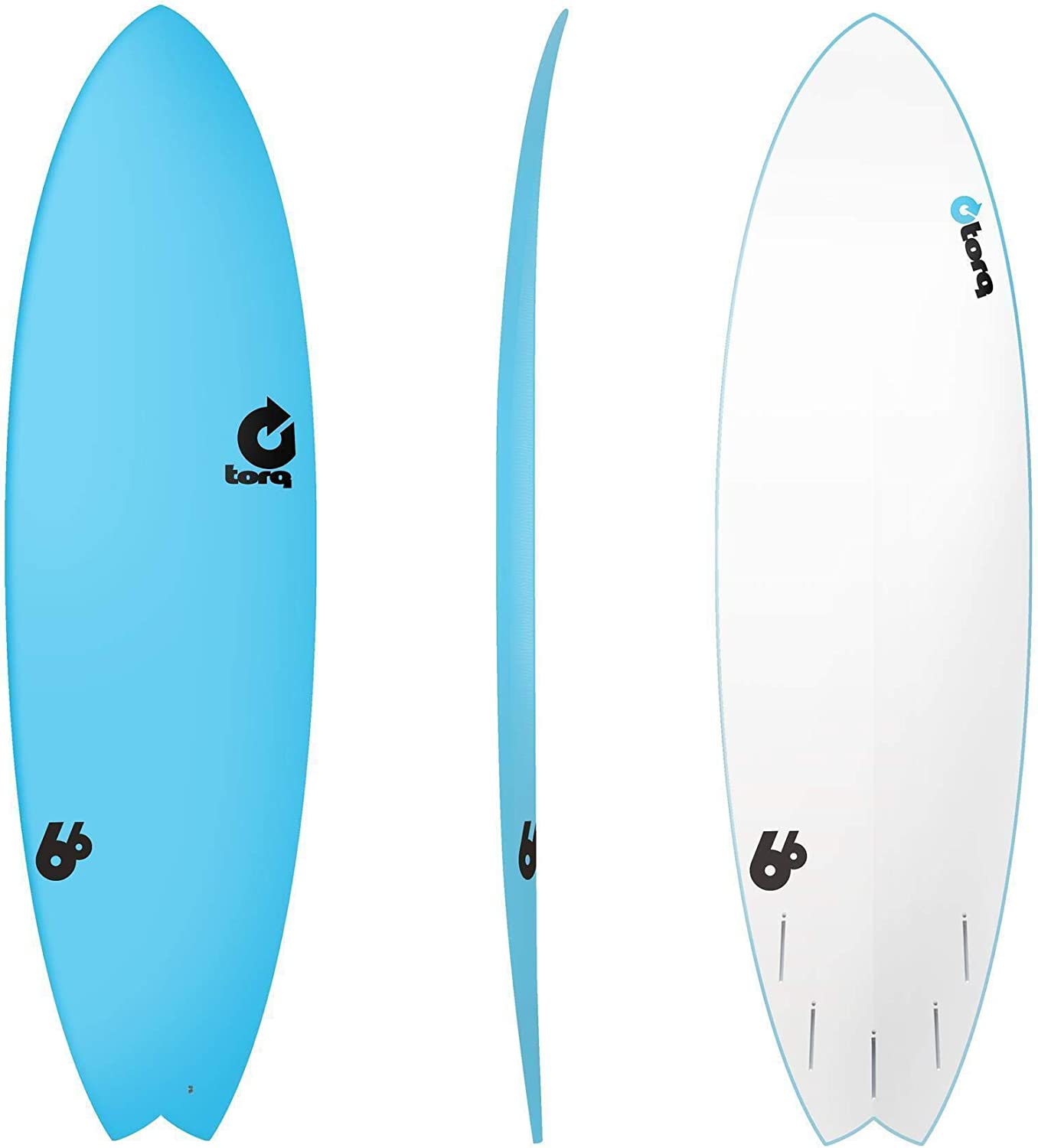 Tabla de Surf TORQ Softboard 6.6 Fish Blue Softdeck Soft Top