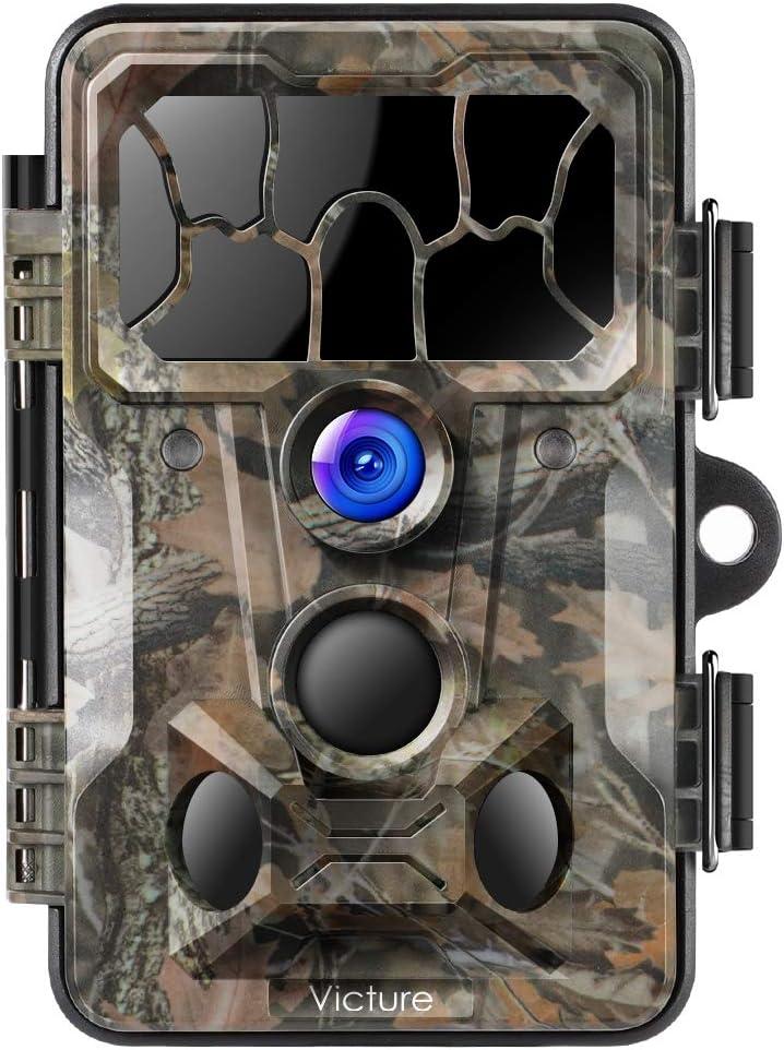 Victure Wild Cámara Foto Trampa 20 MP 1080P Full HD Cámara De Caza 130 ° Amplio Vision INFR Arote 20 m Visión Nocturna Impermeable IP66 Vigilancia con 2.4 LCD Pantalla
