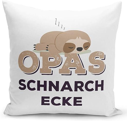 Kuschelkissen Geschenk Kissen Schnarchecke für Mama Papa Opa Oma
