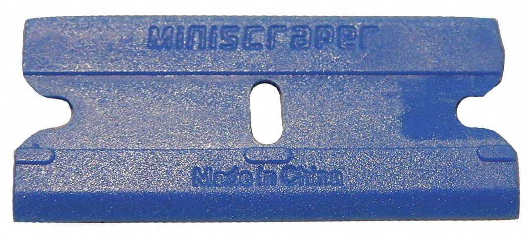 Stiff Scraper Blade with 1-1/2'' Plastic Blade, Blue