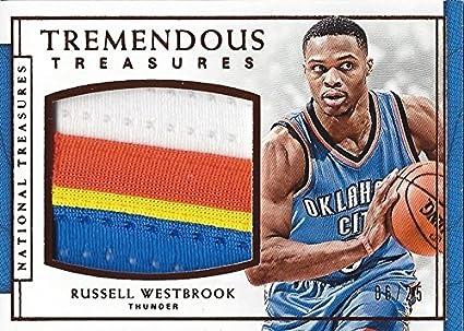 22fc9a4bd8b RUSSELL WESTBROOK 2016-17 Panini National Treasures Basketball TREMENDOUS  TREASURES (Oklahoma City Thunder)