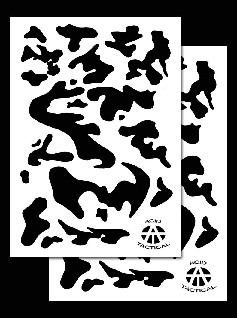 Acid Tactical - Juego de 2 plantillas para pintura con aerógrafo (23 ...