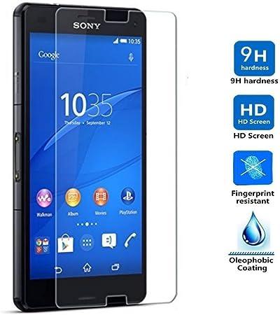 REY Protector de Pantalla para Sony Xperia Z3 Cristal Vidrio ...