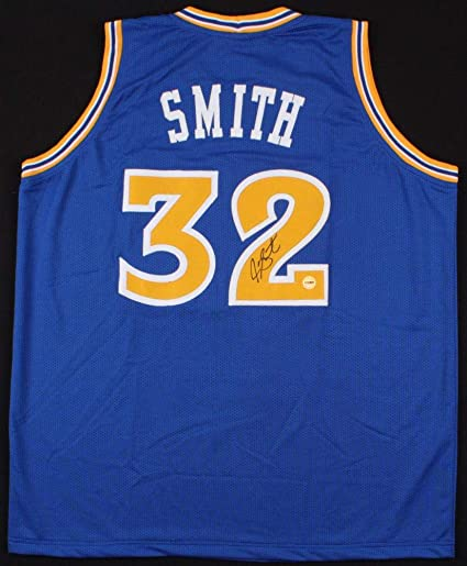 JOE SMITH SIGNED GOLDEN STATE WARRIORS #32 JERSEY LAKERS