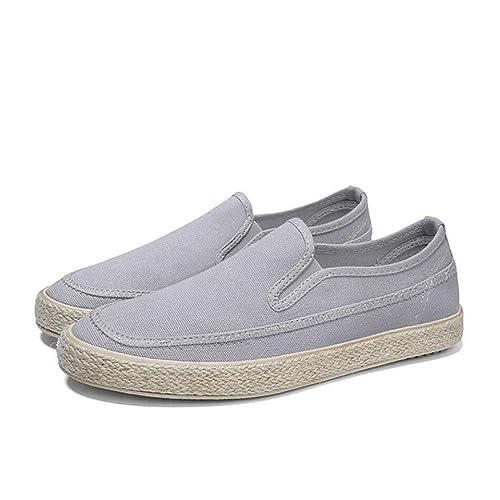 Zapatos Casuales para Hombres, Zapatos Casuales de Lino de Primavera/otoño/cómodos Cientos
