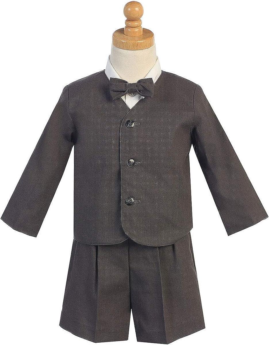 Linen Eton /& Shorts Set